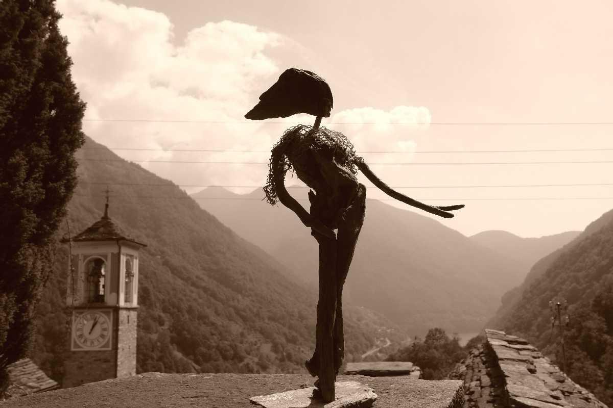 Corippo, Skulpturen aus dem Tal de gruenen Wassers 195