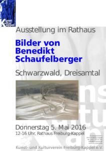 Flyer Ausstellung Schaufelberger 5.5.16